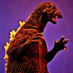 Toho Large Monster Series Godzilla 1964 vinyl figure by X-Plus jazzed up in Photoshop by David Dopko.