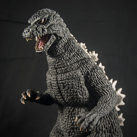 X-Plus Godzilla 1984 Upper Half Against Black. Photo Copyright, John Stanowski.