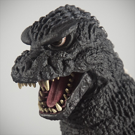 X-Plus Plex 30cm Godzilla 1984 1985 Vinyl Figure - Head shot. Photo copyright, John Stanowski.