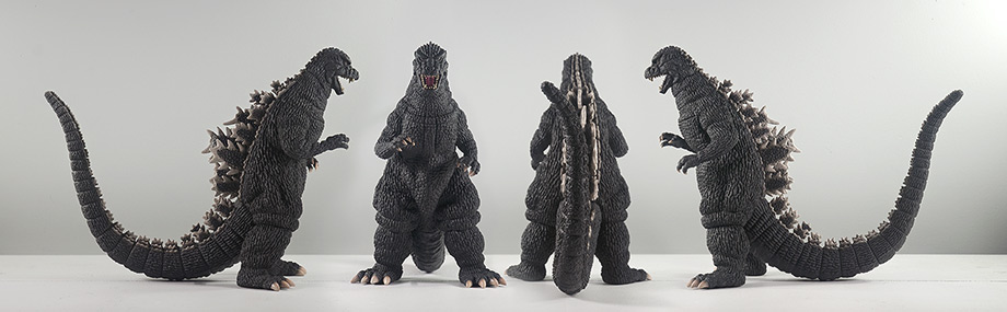 X-Plus Plex 30cm Godzilla 1984 1985 Vinyl Figure - All views. Photo copyright, John Stanowski.