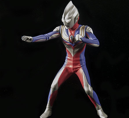 X-Plus Ultraman Tiga Vinyl Figurie. Photo copyright, John Stanowski.