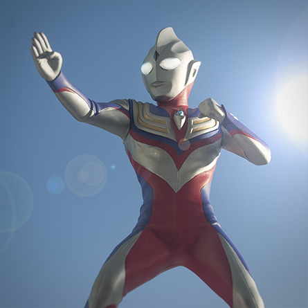 X-Plus Ultraman Tiga vinyl figure. Photo copyright, John Stanowski.