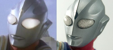 X-Plus Tiga Vinyl Figure TV comparison.