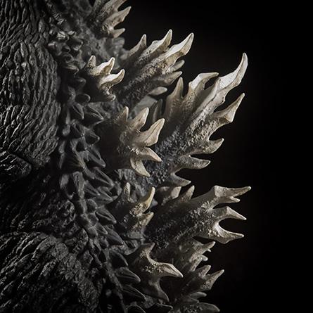 X-Plus 30cm Godzilla 2003 Dorsal Spines Profile. Photo copyright, John Stanowski.