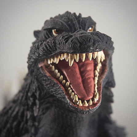 X-Plus 30cm Godzilla 2003 headshot. Photo copyright, John Stanowski.