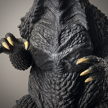 X-Plus 30cm Godzilla 2003 scar close-up. Photo copyright, John Stanowski.
