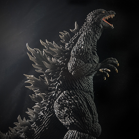 X-Plus Godzilla 2003 side profile. Photo copyright, John Stanowski.