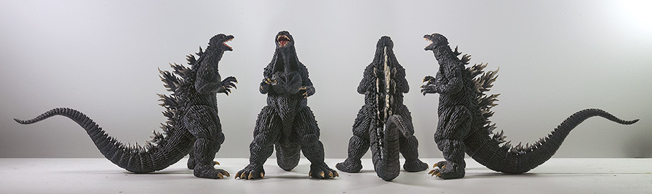 X-Plus 30cm Godzilla 2003 all views. Photo copyright, John Stanowski.