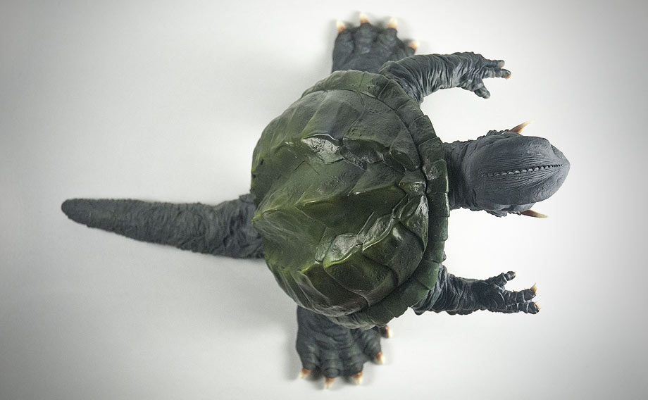 X-Plus エクスプラス 30cm Gamera 1995 Vinyl Figure - Top View. Photo copyright, John Stanowski.