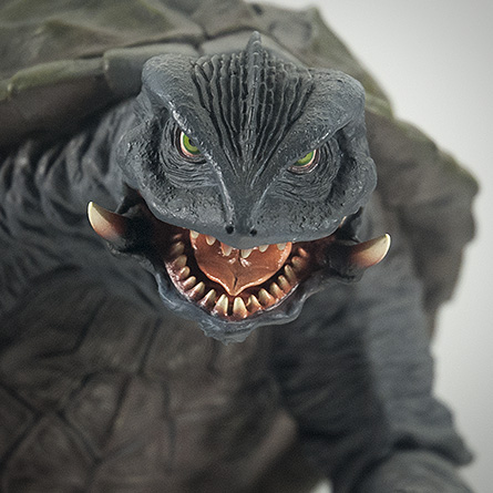 X-Plus エクスプラス 30cm Gamera 1996 Vinyl Figure - Head Shot. Photo copyright, John Stanowski.