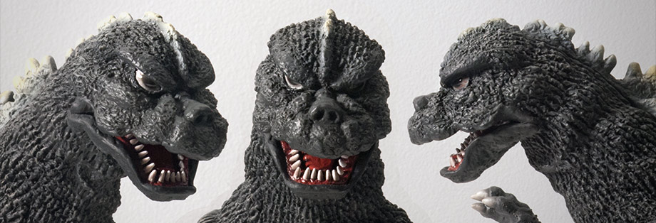 X-Plus Large Monsters Series Godzilla 1975 - Head Views.