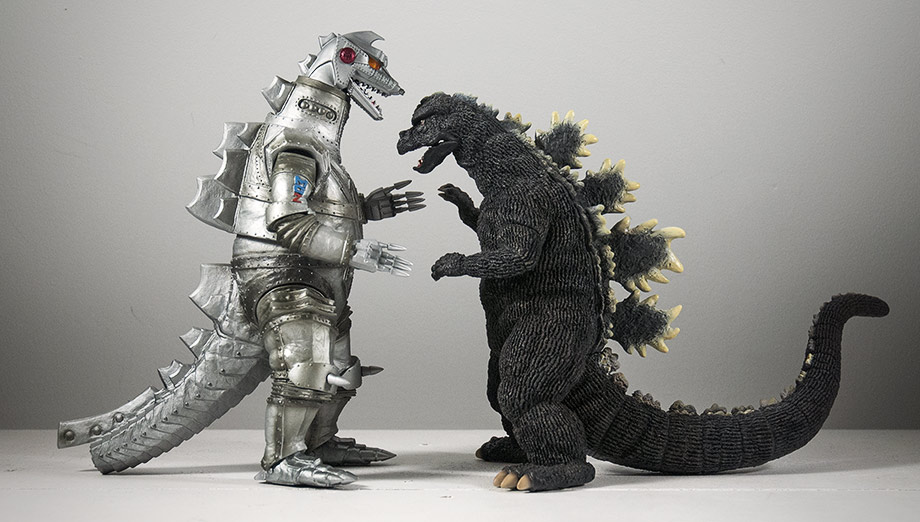 X-Plus Large Monsters Series Godzilla 1975 - Size Comparison with Mechagodzilla 1975.