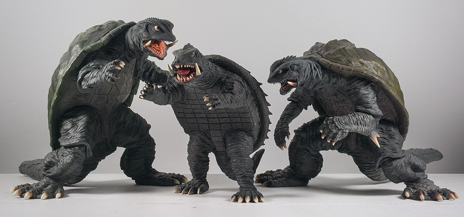 X-Plus Gamera 1966 Size Comparison with Gamera 1995 and 1996.