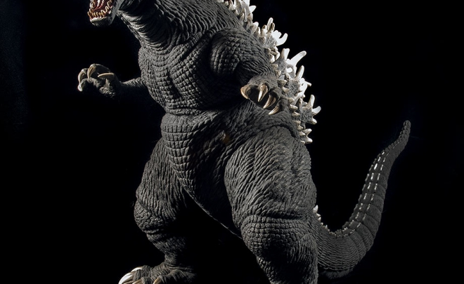 X-Plus / Plex Godzilla 2001 Vinyl Figure on Black.