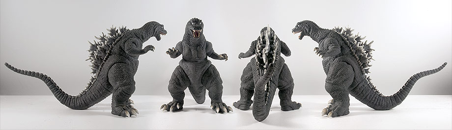 X-Plus / Plex 30cm Godzilla 2001 GMK Vinyl Figure - All views.