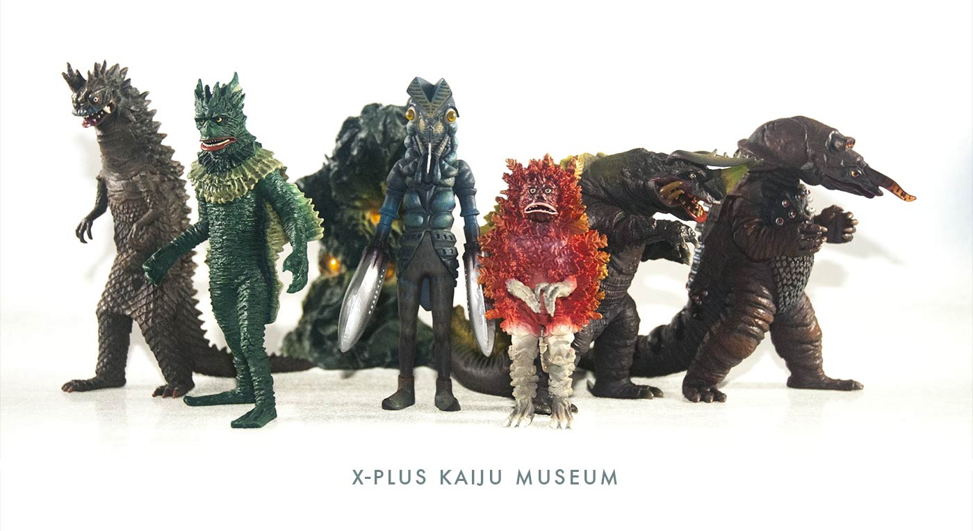 photo xplus kaiju museum polystone figurines