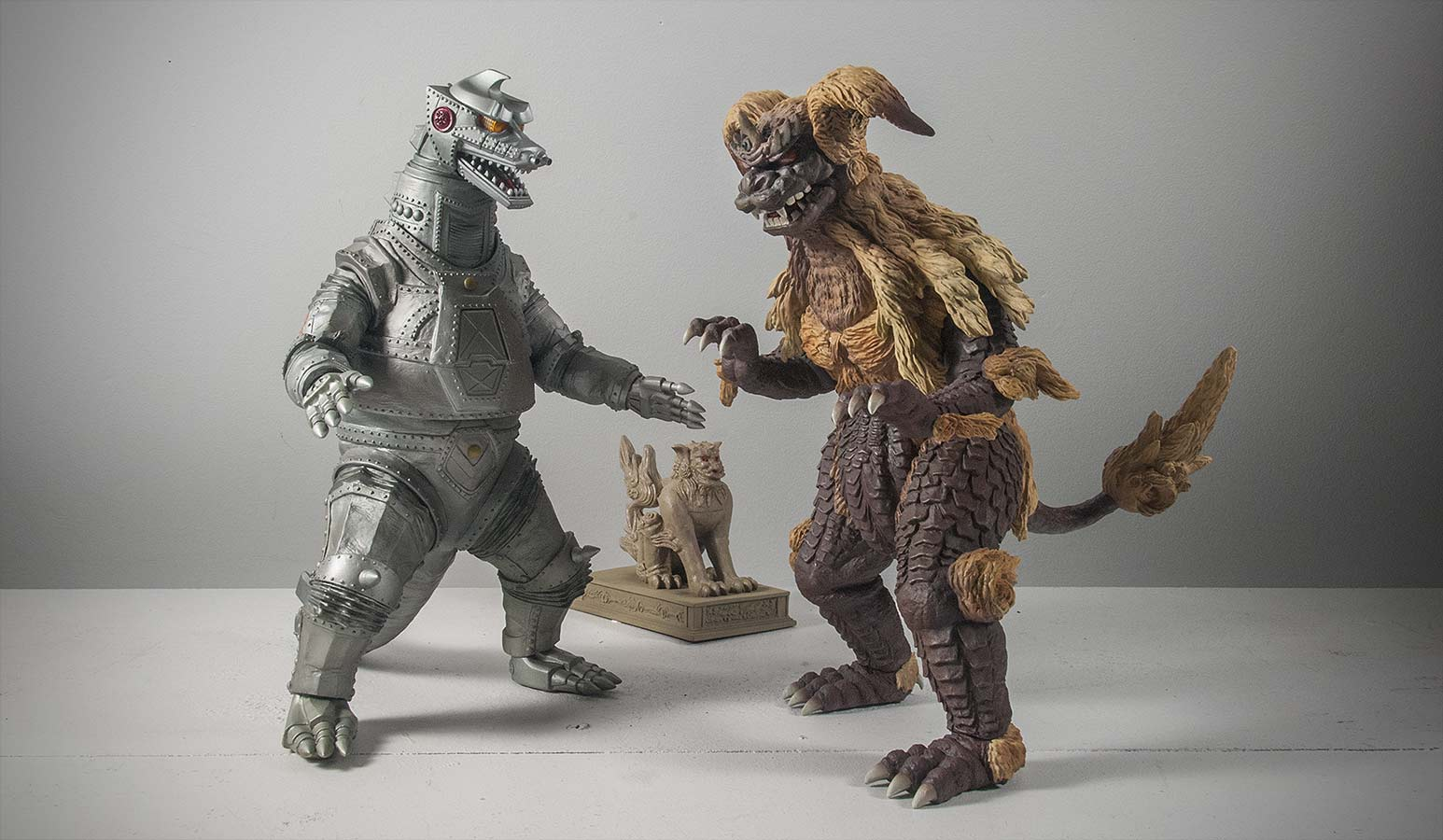 X-Plus King Caesar size comparison with Mechagodzilla 1974.