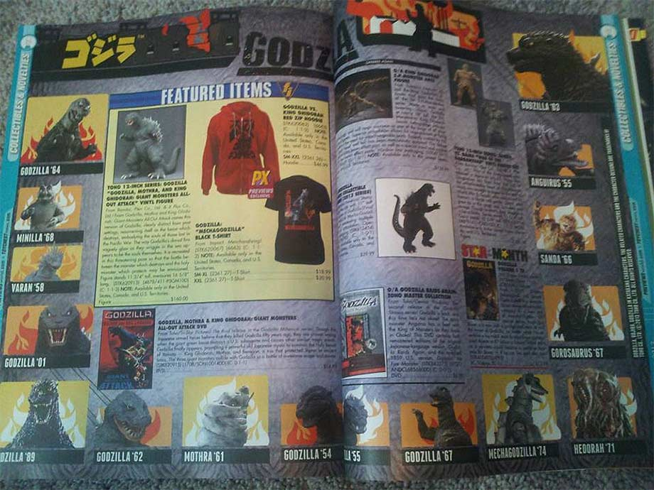 Two-page X-Plus spread in the August edition of Previews.