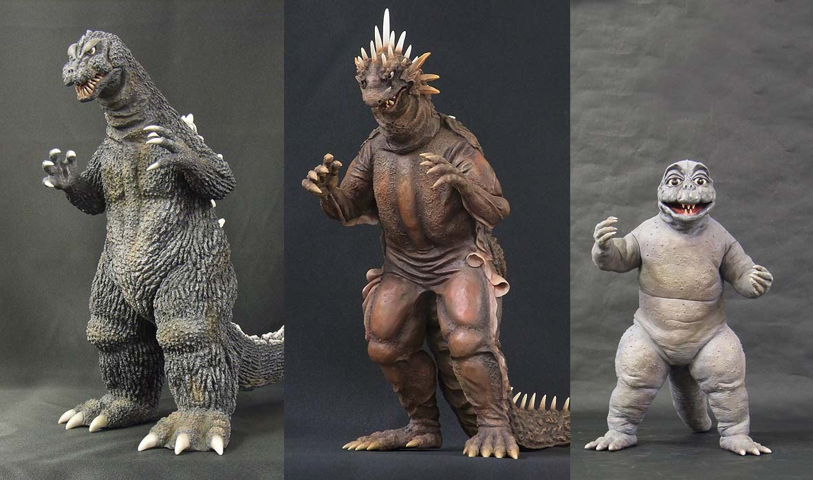 Wave 3 of the Diamond North American releases of X-Plus Vinyl Godzilla figures.