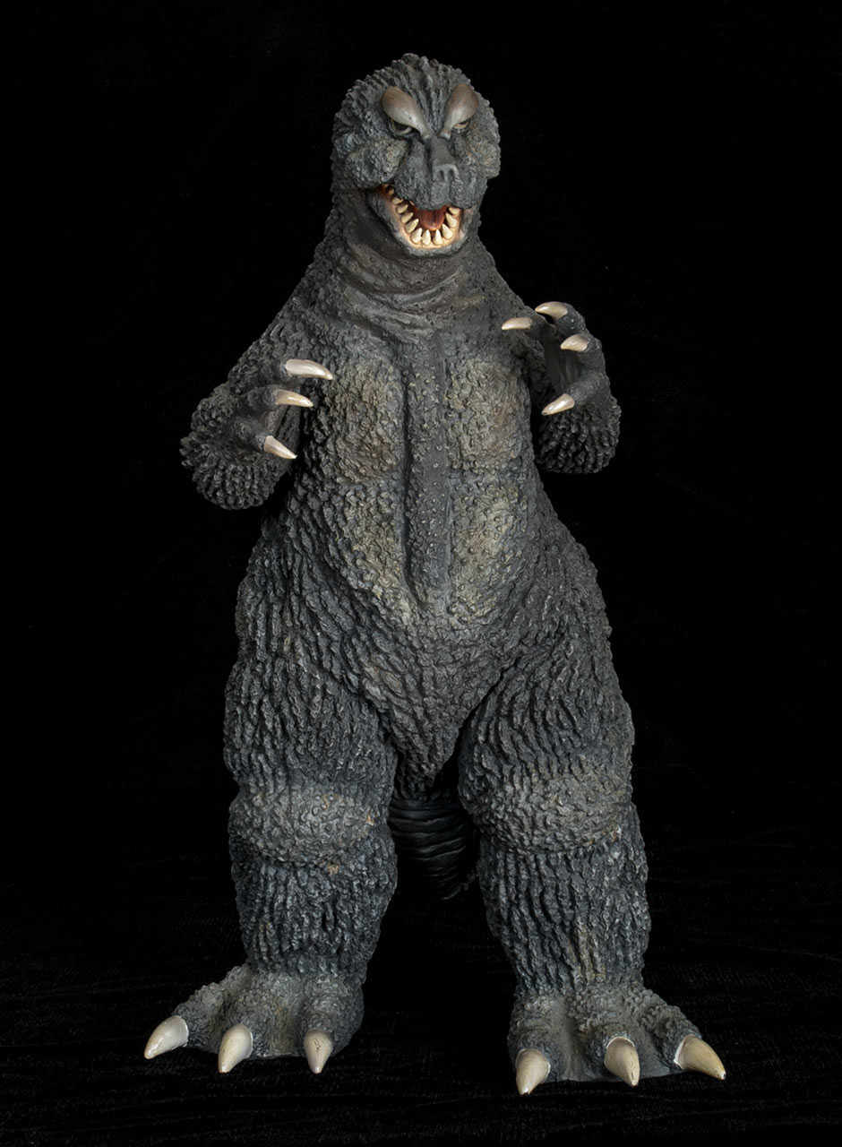 Embellished photo of the X-Plus Godzilla 1964 vinyl figure.