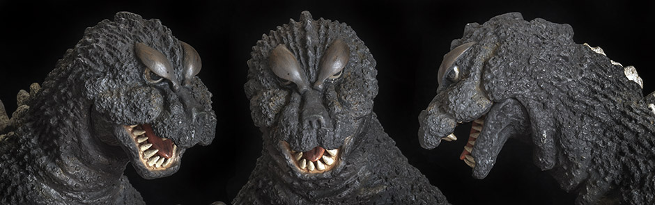 X-Plus Godzilla 1964 head shots.