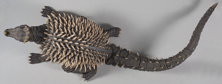 X-Plus Anguirus Vinyl Figure - top view.