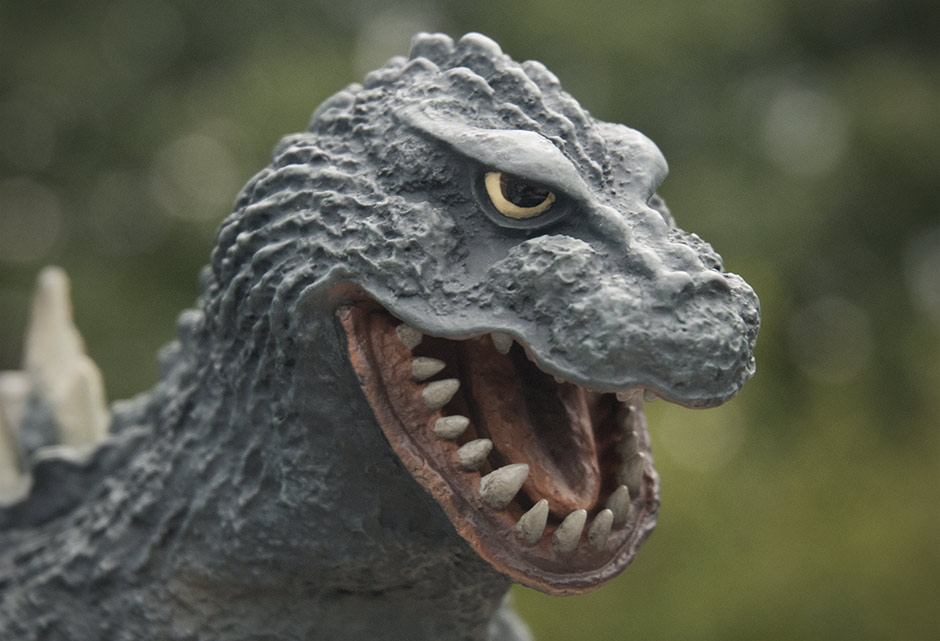 X-Plus Godzilla 1962 Head Close-up.