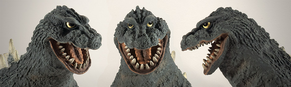 X-Plus Godzilla - Head shots.