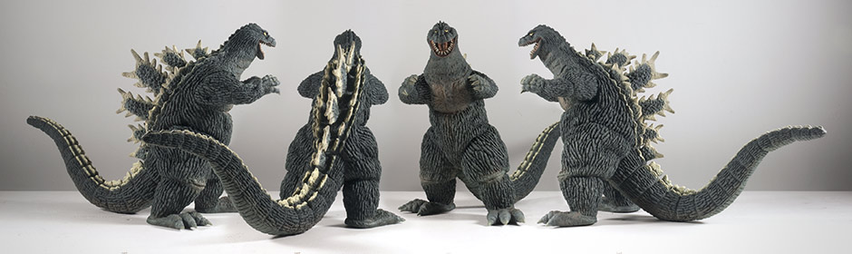 X-Plus Godzilla 1962 Vinyl Figure - All views.