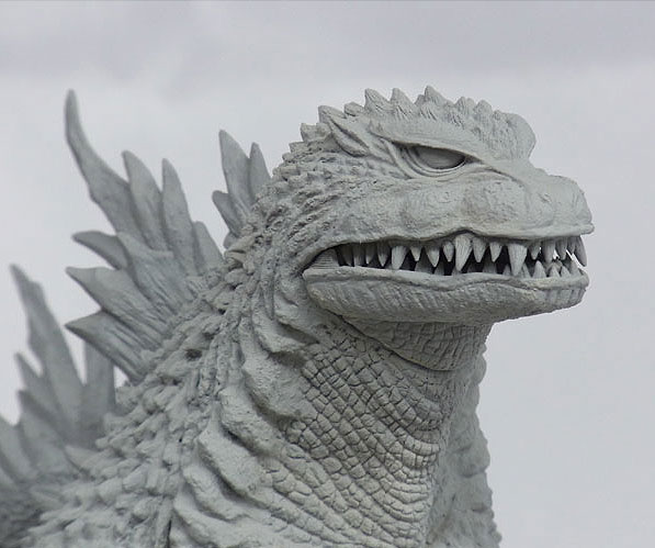 News: X-Plus Godzilla 1999 headshot.
