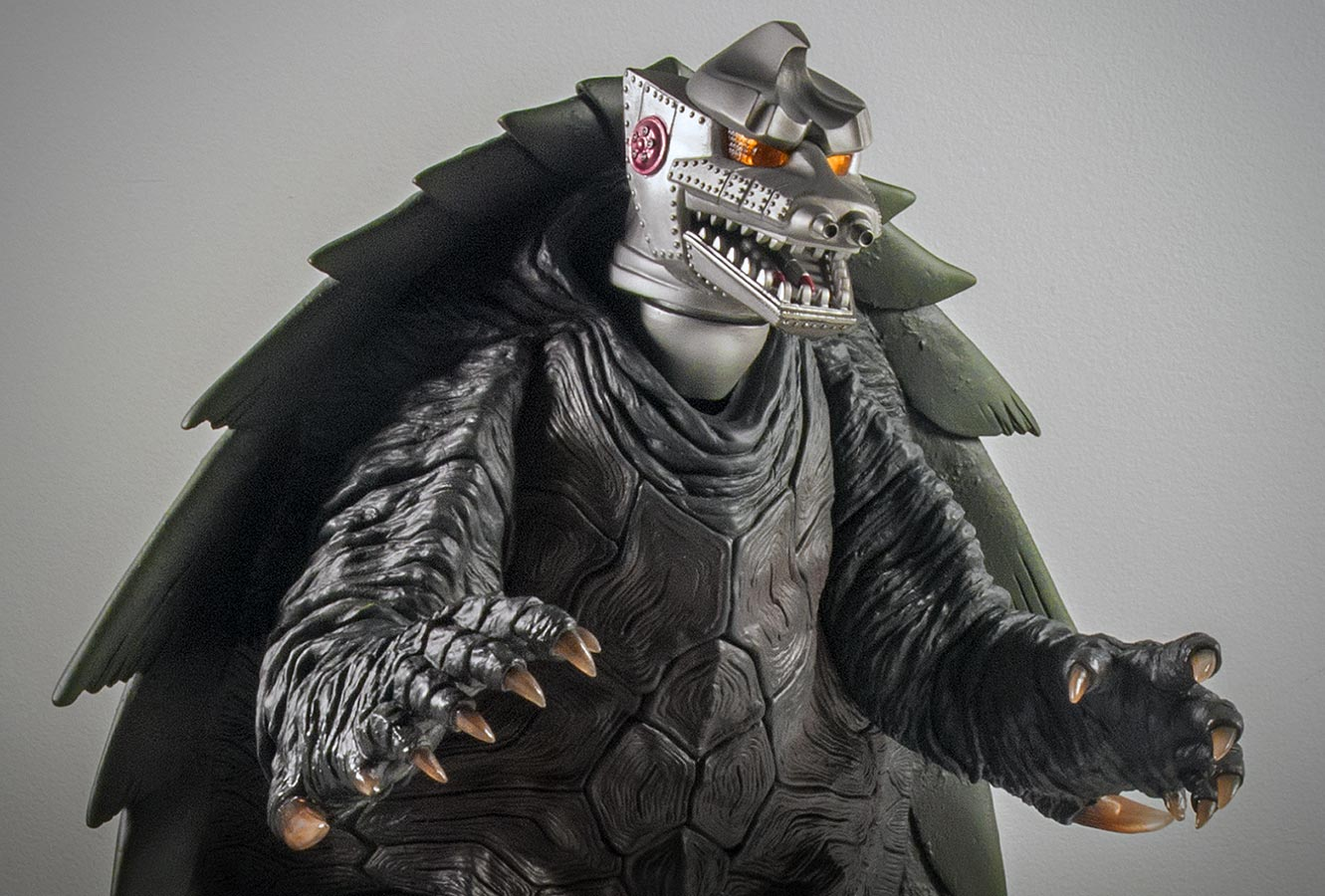 X-Plus 30cm Mechagodzilla head on 30cm Gamera 1999 body.