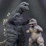 X-Plus Large Monster Series Godzilla 1967 Ric Boy with Minya.