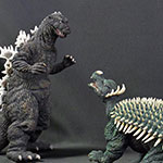 X-Plus Large Monster Series Godzilla and Anguirus 1955 Color Set.