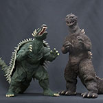 X-Plus 30cm Series Godzilla and Anguirus 1955 Color Version Set.