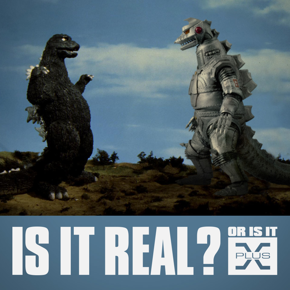 X-Plus Mechagodzilla 1974 composited into a scene from the movie.
