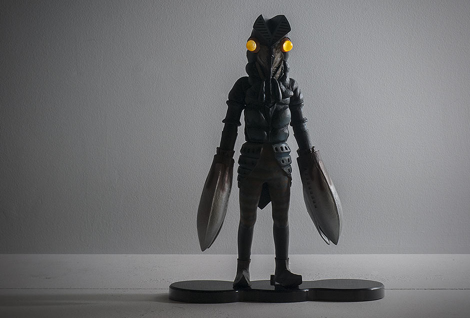 X-Plus Baltan Ric Boy Light gimmick with stand.