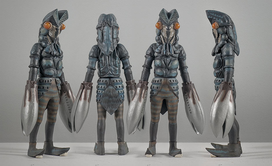 X-Plus Baltan Vinyl Figure from all angles.