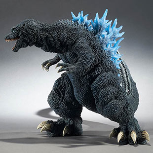 X-Plus Gigantic Series Godzilla 2001 (blue fins).