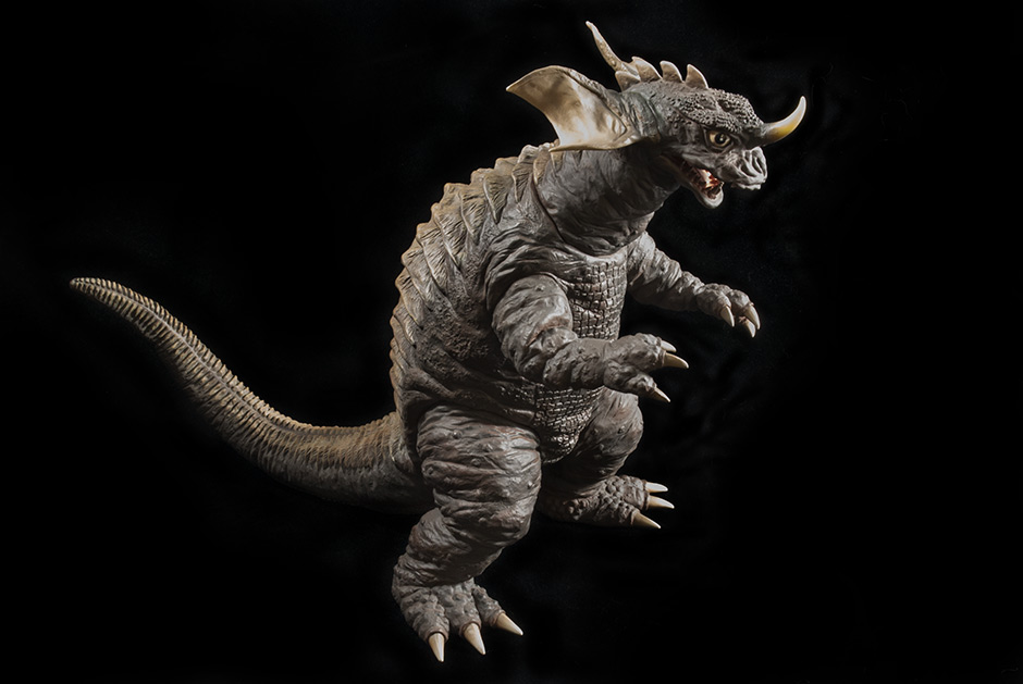X-Plus Wonder Festival Baragon Vinyl Statue Figure - Full Shot on Black.