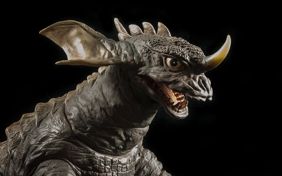 Close-up of Baragon Vinyl Head Textures.