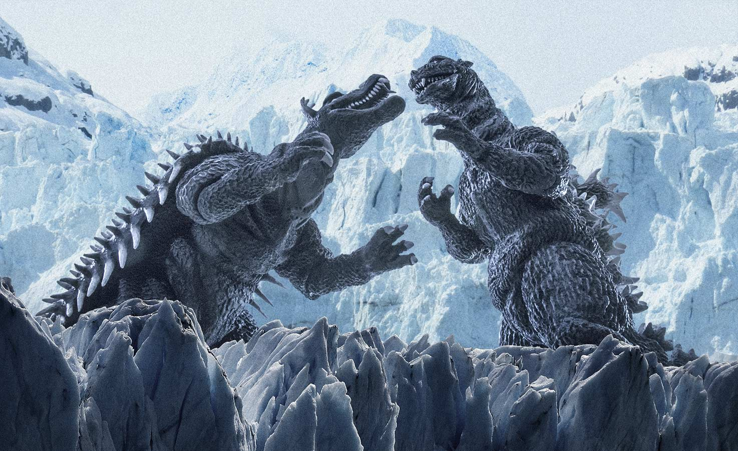 X-Plus Godzilla and Anguirus Ice Composite.