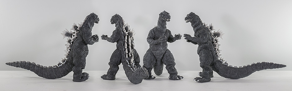 X-Plus Godzilla 1955 Vinyl Figure views from all sides by Kaiju Addicts.