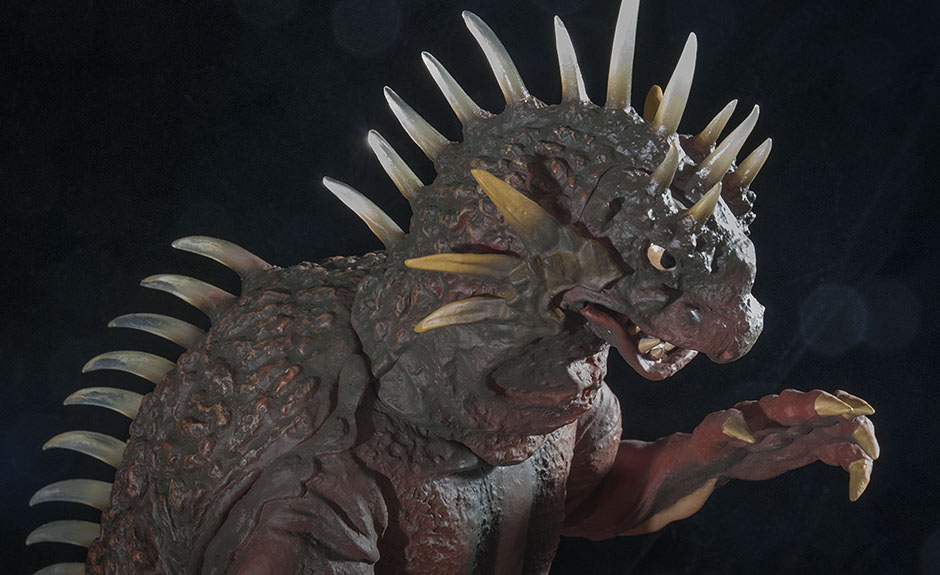 X-Plus Varan Vinyl Figure - High Angle on Head.
