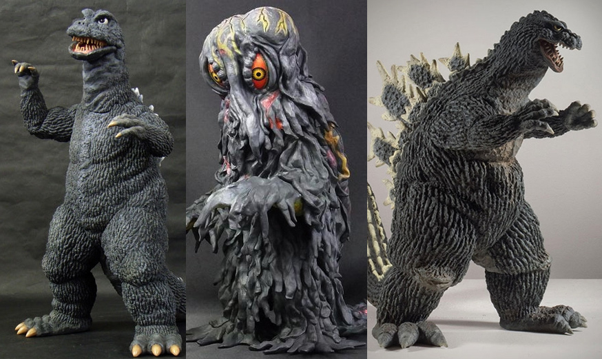 X-Plus Diamond Re-Issues Godzilla 1968, 1962 and Hedorah.