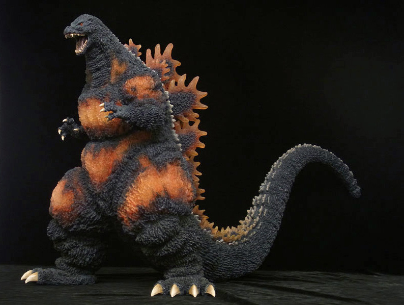 X-Plus Gigantic Series Burning Godzilla 1995 Vinyl Figure.