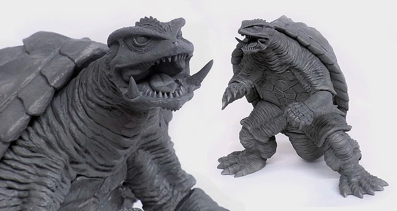 X-Plus 25cm Gamera 1996 early production photos.