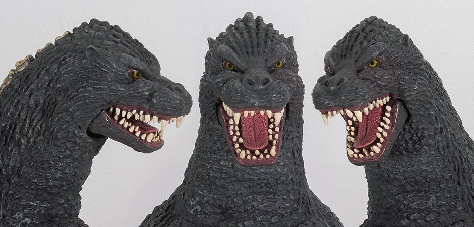 Godzilla 1989 Head Views.