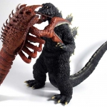 X-Plus Godzilla and Ebirah Set. Photo by Lester Wayne Daniels.