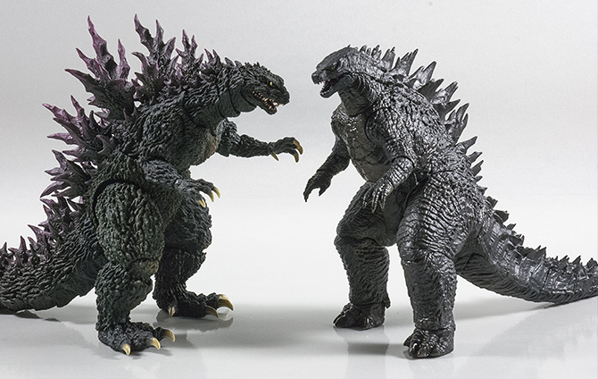 NECA 12inch Head-to-Tail with S.H. MonsterArts Godzilla 2000.