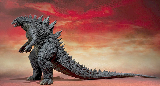 S.H. MonsterArts Godzilla 2014 figure.